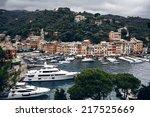astonishing portofino bay view... | Shutterstock . vector #217525669