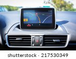 navigation device in the car | Shutterstock . vector #217530349