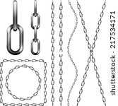 set of metal chain  isolated on ... | Shutterstock .eps vector #217534171