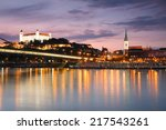 view of the bratislava castle... | Shutterstock . vector #217543261
