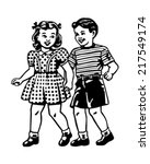 retro children   clipart... | Shutterstock .eps vector #217549174