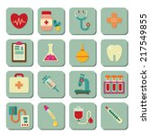 medical icons | Shutterstock .eps vector #217549855