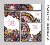 collection of decorative floral ... | Shutterstock . vector #217553929