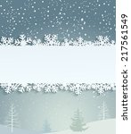 christmas background with white ... | Shutterstock .eps vector #217561549