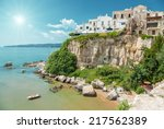 old seeside town of vieste in... | Shutterstock . vector #217562389