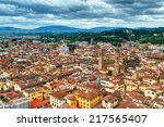panoramic view of florence from ... | Shutterstock . vector #217565407