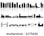 silhouette buildings factorys... | Shutterstock .eps vector #2175656