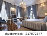interior of a classic style... | Shutterstock . vector #217572847