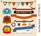 set of halloween ribbons and... | Shutterstock .eps vector #217578271