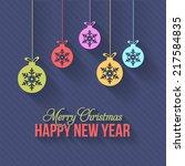 vector flat style christmas... | Shutterstock .eps vector #217584835