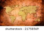 world map vintage artwork   Shutterstock . vector #21758569