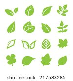 leaf icon | Shutterstock .eps vector #217588285
