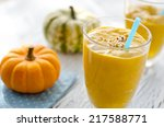 Beverage With Pumpkins And Mil...