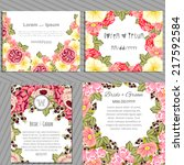 wedding invitation cards with... | Shutterstock .eps vector #217592584