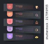 dark paper style infographics... | Shutterstock .eps vector #217593955