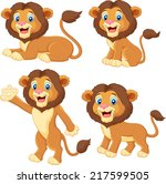 cartoon lion collection set | Shutterstock . vector #217599505