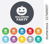 halloween pumpkin sign icon....   Shutterstock . vector #217600057