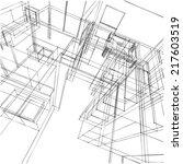 interior sketch background | Shutterstock . vector #217603519
