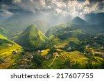 rice field terraces in sapa  ... | Shutterstock . vector #217607755