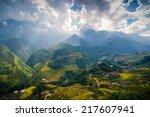 rice field terraces in sapa  ...   Shutterstock . vector #217607941