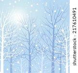 winter trees | Shutterstock .eps vector #217610491