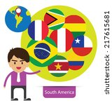 flag of south america. vector... | Shutterstock .eps vector #217615681