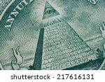 us one  1   dollar bill in a... | Shutterstock . vector #217616131