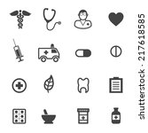 pharmacy and medical icons ... | Shutterstock .eps vector #217618585