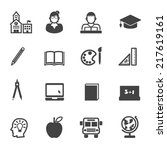 education and school icons ... | Shutterstock .eps vector #217619161