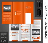 orange vector brochure template ... | Shutterstock .eps vector #217619497