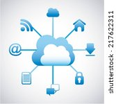 cloud computing over white... | Shutterstock .eps vector #217622311