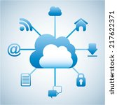 cloud computing over white... | Shutterstock .eps vector #217622371