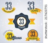 33 years of service  33 years   ... | Shutterstock .eps vector #217623751