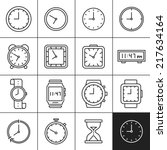 clock and watch icons.... | Shutterstock .eps vector #217634164