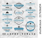 retro vintage insignias or... | Shutterstock .eps vector #217636654