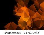 Bright Orange Black Abstract...
