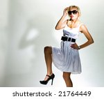 blonde in white dress  monroe... | Shutterstock . vector #21764449
