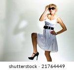 blonde in white dress  monroe... | Shutterstock . vector #21764449