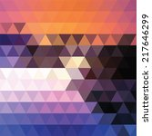 abstract geometric colorful... | Shutterstock .eps vector #217646299