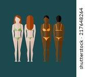 illustration with naked women...   Shutterstock .eps vector #217648264