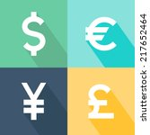 set of currency icons. currency ... | Shutterstock .eps vector #217652464