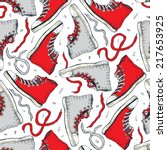 sneakers. seamless pattern with