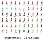 big collection of people... | Shutterstock .eps vector #217659889