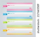 infographics template for... | Shutterstock .eps vector #217665589