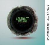 grunge brush strokes banner.... | Shutterstock .eps vector #217677679