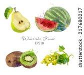 Watercolor Vector Fruits Set Of ...