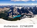 Постер, плакат: Mountain range view from