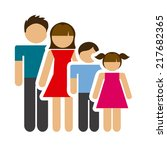 family graphic design   vector... | Shutterstock .eps vector #217682365