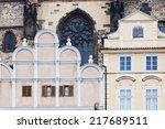 historical building in front of ... | Shutterstock . vector #217689511