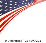 closeup of american flag on... | Shutterstock . vector #217697221